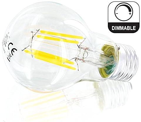 Ampoule LED E27A606W Intensité variable Filament Ampoule