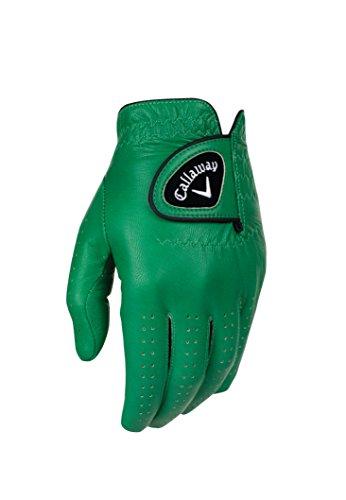 Callaway Golf opticolor Premium Full Color Leder Handschuhe M grün