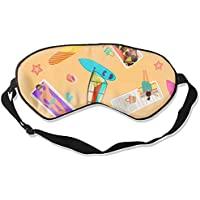 Schlafaugenmasken Abdeckungen für Sommer, Uhr am Strand, verstellbarer Riemen preisvergleich bei billige-tabletten.eu