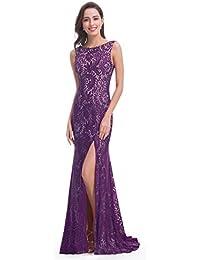 Ever-Pretty Vestido de Noche de Muslo con Abertura Alta y Espalda Abierta 08859