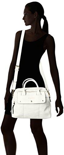 SwankySwansCarla Pu Leather Double Zip Smart - Borsa Tote donna White (White)