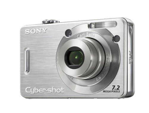 Sony Cyber-Shot DSC-W55 S Digitalkamera (7 Megapixel, 3-Fach Opt. Zoom, 6,4 cm (2,5 Zoll) Display) Silber Sony Ccd-serie
