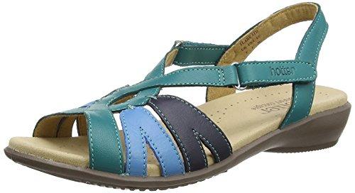 Hotter Flare, Sandales  Bout ouvert femme Blue (Aquamarine Multi)