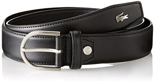 3ebca6c08f3124 Lacoste 0886619711045 Mens Premium Smooth Leather Belt With Metal Croc Black  33 Rc1422 H02- Price in India