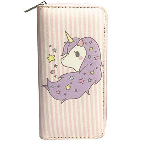 MayeBridge portafoglio Donna Cute Unicorno Borsa Del Portafoglio Della Moneta -M260 (Bianco) Unicorn Pink