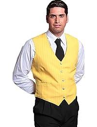 Fratelliditalia Gilet uomo lavoro cameriere bar barista sala ristorante  gessato barman hotel 52c07cffb16b