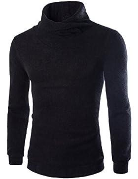 La versión coreana del suéter de cuello alto Otoño e Invierno Sweater Sau-hombres libres golpeó el suelo, el negro...
