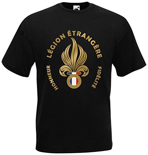 Fremdenlegion Frankreich Légion étrangère T-Shirt Fanshirt Schwarz