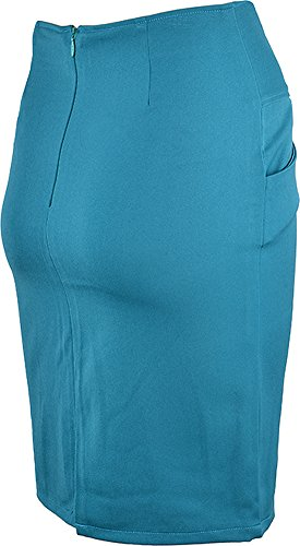 Edler Retro RUFFLE Pin Up Basic 50s PENCIL SKIRT / Rock – Petrol Rockabilly RR90 - 4