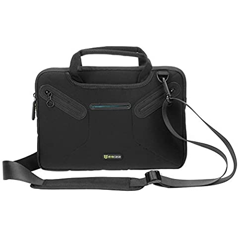 Microsoft Surface Pro Carrying Case, Evecase 12 inch Protective Sleeve Bag Multi-functional Briefcase Messenger w/ Handle and Shoulder Strap - Black