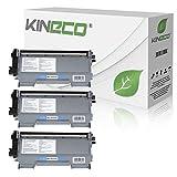 Kineco 3 Toner kompatibel für TN-2010 / TN-2220 für Brother MFC-7360N DCP-7055 Brother HL-2135W HL-2130 HL-2132 DCP-7057 - TN2010 TN2220 - Schwarz je 3.000 Seiten