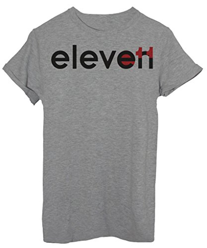 T-Shirt ELEVEN 11 UNDICI POTERI PARANORMALI STRANGER THINGS - SERIE TV - by iMage Grigio