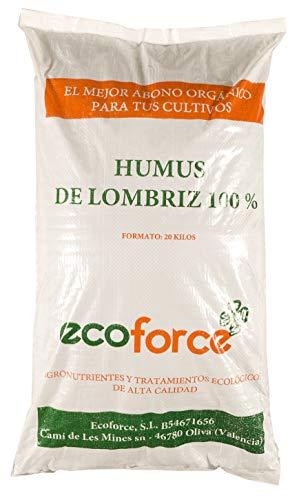 CULTIVERS Humus de Lombriz ecológico 20 kg (40 L). Abono para plantas indicado para tomates y...