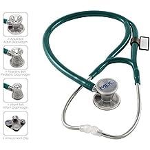 MDF® ProCardinal® C3 Cardiology Estetoscopio de doble cabeza de titanio con membrana convertible adulto