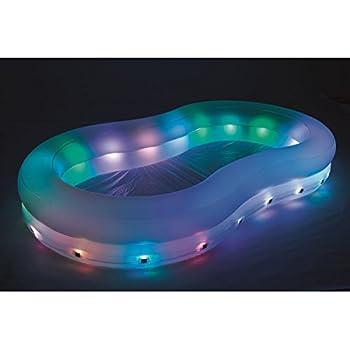 VARILANDO LED-Garten-Pool Planschbecken beleuchteter aufblasbarer ...