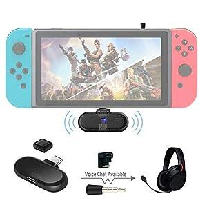 GuliKit Route + PRO Bluetooth-Sender Drahtloser Audio-USB-C-Adapter oder Empfänger mit Sprachübertragung – Muss Gaming-Zubehör für kabelloses Headset haben Kompatibel mit Nintendo Switch und PC