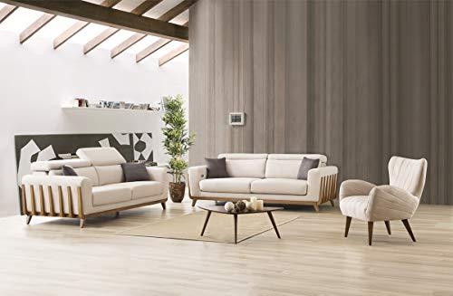 Sofa Dreams Dreisitzer und Sessel Set Jena in Stoff mit Relaxfunktion und USB Anschluss