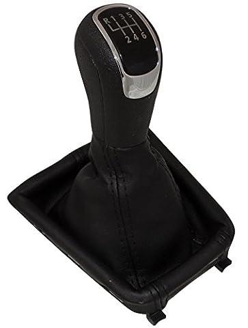 Aerzetix - Schaltsack + Schaltknauf Schwarze 6 Gänge für