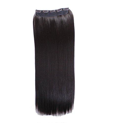 hair2heart Clip in Extensions, 130 g Haargewicht, glatt, 2, dunkelbraun