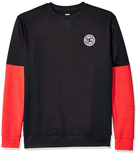 DC Herren Rebel Sleeve Block Fleece Pullover, schwarz, X-Groß Dc-fleece-sweatshirt