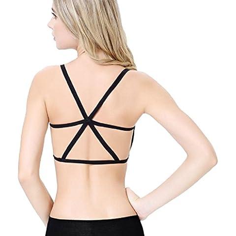 Sannysis ropa interior del sujetador - Mujer Chaleco sin espalda, sujetador de algodón (Tipo B,