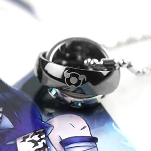 Naruto Kakashi Sharingan doppelte Ring Halskette Cosplay Ketten mit Anhänger (Naruto-ring Kette)