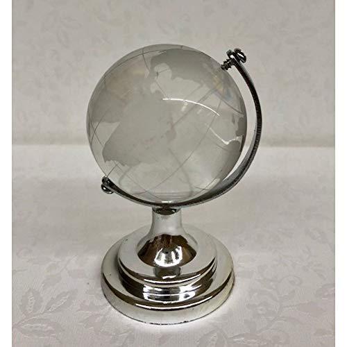 Publilancio srl Globus Glas auf Basis Silver 8 cm Bonboniere