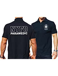 "'Polo Bleu marine, New York Fire Department PARAMEDIC """