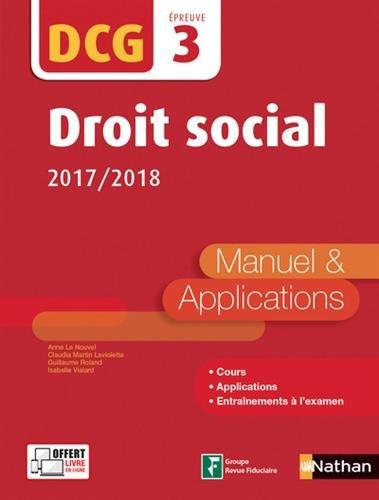 Droit social - DCG 3 - 2017/2018