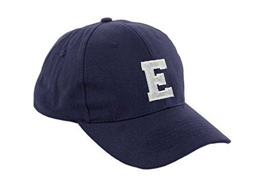Unisex Jungen Mädchen Mütze Baseball Cap Marineblau Hut Kinder Kappe Alphabet A-Z Morefaz TM (E)