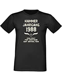 Lustiges Geburtstags T-Shirt - Jubiläums funshirt zum 28. Geburtstag Hammer Jahrgang 1988