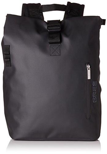 BREE Collection Unisex-Erwachsene Punch 712, Backpack S Rucksack, Schwarz (Black), 14x36x30 cm