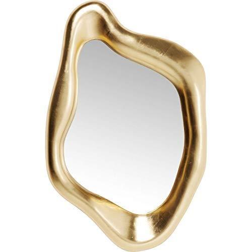 Kare Design Spiegel Hologram Gold, 119x76cm, edler Spiegel mit goldenem Rahmen in besonderer Form, verschiedene Ausführungen erhältlich
