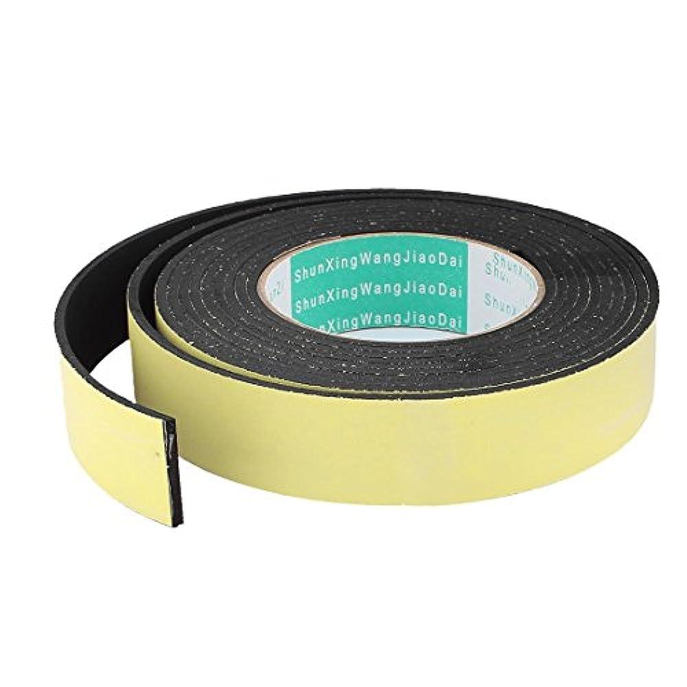 4M 10mm x 3mm Schwarz Einseitiger Klebeschaum Dichtband für Tür Fenster