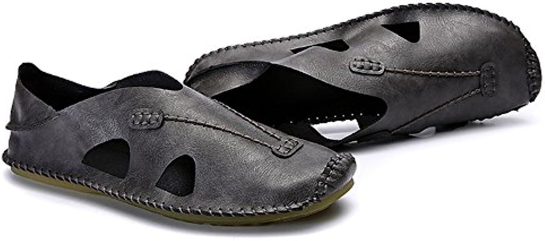 ZHANGRONG  Herren Walking Handgefertigt auf Outdoor Indoor Rutschfeste Schuhe  Farben: A  B  C (Farbe : C  Größe