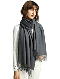 MaaMgic Womens Super Soft Cashmere Feel Pashminas Large Winter Wraps Solid Color Blanket Scarf Stoles Warm Shawls...