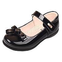 Sunny-U Girls Black Patent Bowknot Leather Mary Jane School Shoes UK 9 Kids
