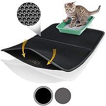 Bella & Balu XXL Alfombrilla Gato con diseño Panal - Alfombra Lavable con Fondo higiénico para Gatos - para un apartamento Limpio sin Arena Sanitaria para ...
