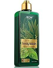 WOW Tea Tree & Mint Foaming Body Wash - No Parabens Sulphat