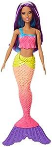 Barbie Dreamtopia, muñeca sirena top rosa, juguete +3 años (Mattel FJC90)