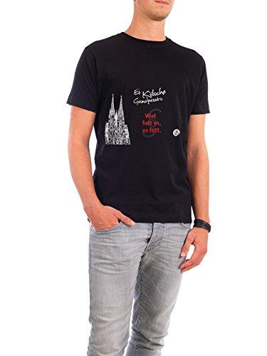 """Design T-Shirt Männer Continental Cotton """"WAT FOTT ES ES FOTT schwarz"""" - stylisches Shirt Typografie Städte / Köln von KoenigReich Schwarz"""