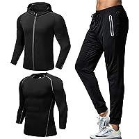 Traje de fitness de los hombres 3 piezas para hombre Ropa deportiva Ropa  deportiva Ropa deportiva deb096a932fb1