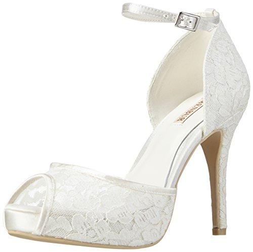 Menbur Wedding Denise, Scarpe col tacco donna Bianco Elfenbein (Ivory) 40 EU