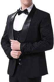 Boyland Mens 3 Piece Tuxedo Suits Dinner Party Prom Groom Tuxedos(Jacket+Vest+Pants)