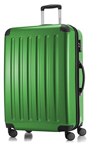 HAUPTSTADTKOFFER - Alex -  4 Doppel-Rollen Großer Hartschalen-Koffer Koffer Trolley Rollkoffer Reisekoffer, TSA, 75 cm, 119 Liter, Grün