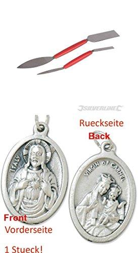 Stukkateureisen, 2 teilig Satz, Gipsereisen, Gipserspachtel mit einem Anhänger Herz Jesu 2,5cm