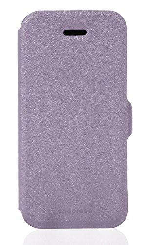 Cadorabo - Ultra Slim Book Style Cover for >                Apple iPhone 5 / 5S / SE                < with Card Slot and Stand Function - Etui Case Protection Skin in ICY-SCHWARZ ICY-FLIEDER