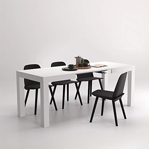 Mobilifiver tavolo allungabile first bianco frassino, da 120 a 200 cm, nobilitato, made in italy