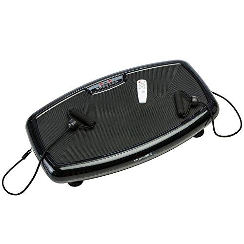 Skandika Vibration Plate Home 600, 1091, vibrante, télécommande infrarouge incluse, ultra-silencieuse Moteur Professionnel avec 20vitesse Level Grande Surface de Entraînement avec revêtement antidérapant, skandika Vibration Plate 600...