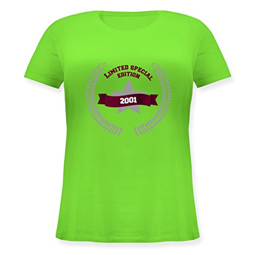 Geburtstag - 2001 Limited Special Edition - Lockeres Damen-Shirt in großen Größen mit Rundhalsausschnitt Hellgrün